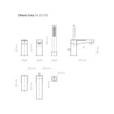 Bateria wannowo-prysznicowa 34201100 Oltens Gota