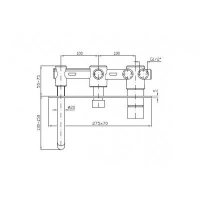Bateria wannowo-prysznicowa podtynkowa ZP6640N1 Zucchetti Pan