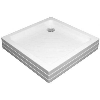 Brodzik kwadratowy Angela 80x80x9 PU biały Ravak A004401120