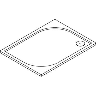 Brodzik prostokątny 90x80 cm WMA809004 SanSwiss Marblemate