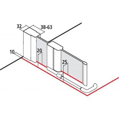 Drzwi prysznicowe uchylne CK1NR12020VPK Kermi Cada CK1NR/L