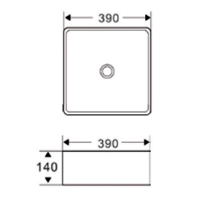 Umywalka kwadratowa 39x39 cm CE15001 Invena Reja