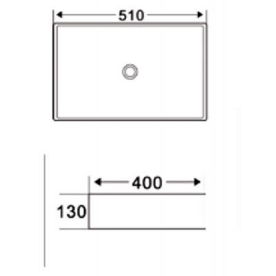 Umywalka prostokątna 51x40 cm CE16001 Invena Ate