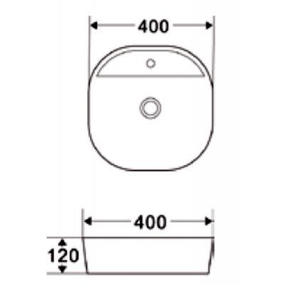 Umywalka okrągła 40x40 cm CE17001 Invena Pejto