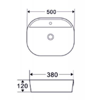 Umywalka owalna 50x38 cm CE18001 Invena Halia