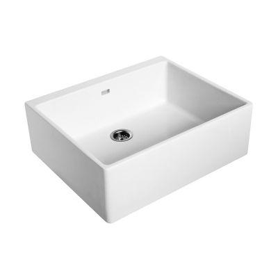 Zlewozmywak ceramiczny 1-komorowy 60x50 cm Nova Top Koło 5210 biały