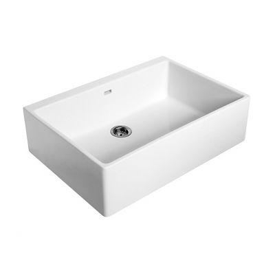 Zlewozmywak ceramiczny 1-komorowy 70x50 cm Nova Top Koło 5230 biały