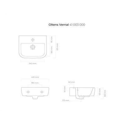Umywalka półokrągła 40x32.5 cm 41003000 Oltens Vernal