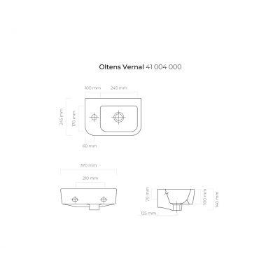 Umywalka półokrągła 37x24.5 cm 41004000 Oltens Vernal