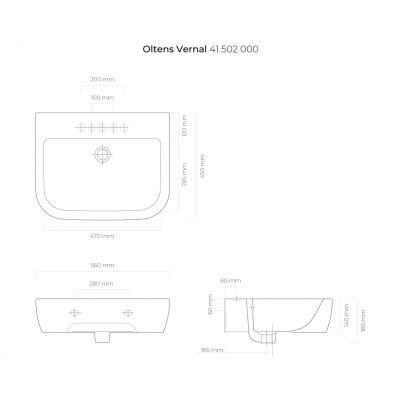 Umywalka 41502000 Oltens Vernal