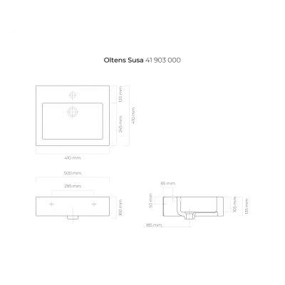 Umywalka prostokątna 50x41 cm 41903000 Oltens Susa