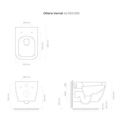Miska WC 42002000 Oltens Vernal