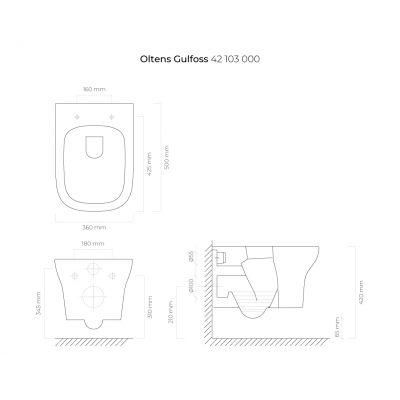 Miska WC 42503000 Oltens Gulfoss