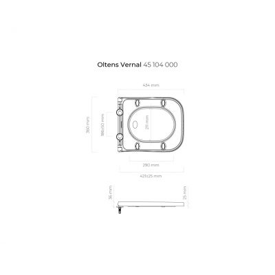 Deska sedesowa wolnoopadająca 45104000 Oltens Vernal