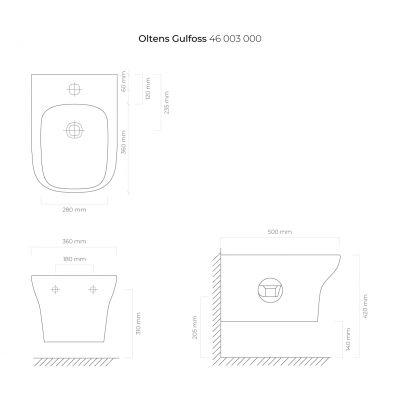 Bidet wiszący 46503000 Oltens Gulfoss