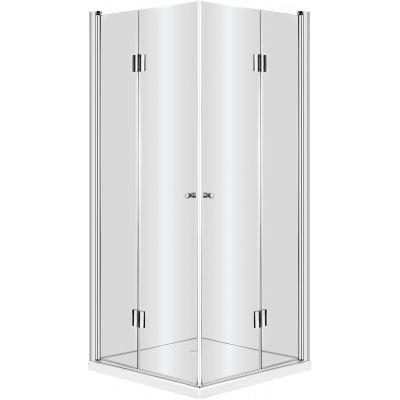 Kabina prysznicowa kwadratowa 90x90x200 cm Kerria Deante KTK 041P profil chrom szkło transparent Active Cover