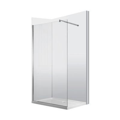 Kabina prysznicowa otwarta typu walk-in 120 cm Abelia Deante KTA 031P profil chrom szkło transparent Active Cover