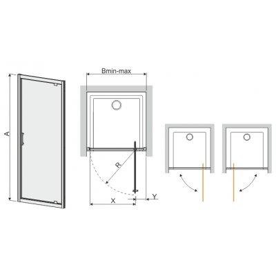 Drzwi prysznicowe 600271105001401 Sanplast TX
