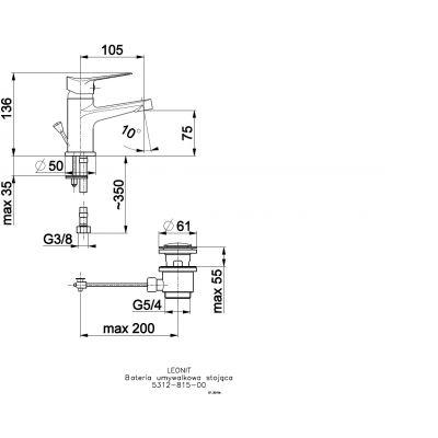 Bateria umywalkowa stojąca 531281500 KFA Armatura Leonit