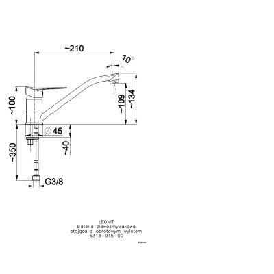 Bateria kuchenna 531391500 KFA Armatura Leonit