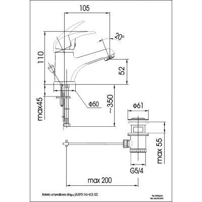 Bateria umywalkowa stojąca 54281500 KFA Armatura Jaspis