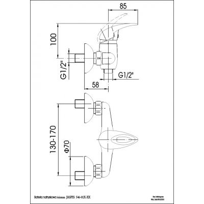 Bateria prysznicowa 54601000 KFA Armatura Jaspis