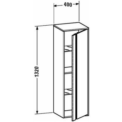 Szafka wisząca boczna 40x36 cm KT1257R2222 Duravit Ketho