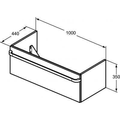 Szafka wisząca podumywalkowa 100x44 cm R4304WG Ideal Standard Tonic II