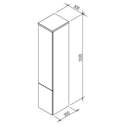 Szafka wisząca boczna 30.5x35 cm X000000929 Ravak Rosa II