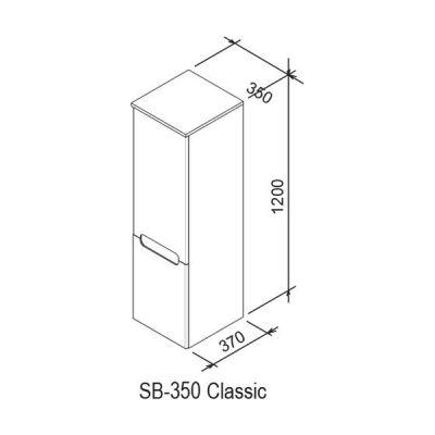 Szafka wisząca boczna 35x37 cm X000000941 Ravak Classic