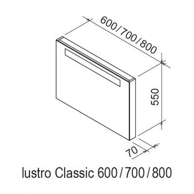Lustro 70x55 cm X000000954 Ravak Classic