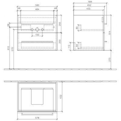 Szafka wisząca podumywalkowa 58x45.2 cm A88900B1 Villeroy & Boch Avento