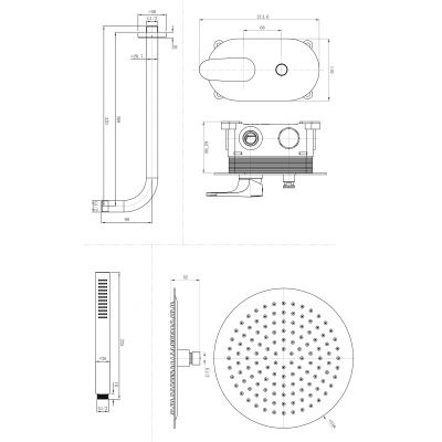 Bateria wannowo-prysznicowa podtynkowa S951282 Cersanit Inverto