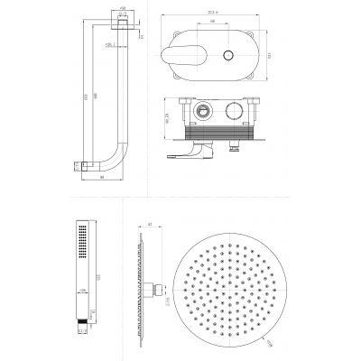 Bateria wannowo-prysznicowa podtynkowa S951285 Cersanit Inverto