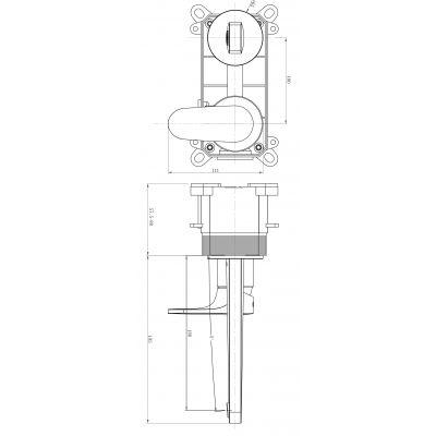 Bateria umywalkowa S951296 Cersanit Inverto