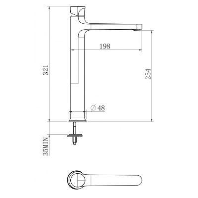 Bateria umywalkowa S951298 Cersanit Inverto