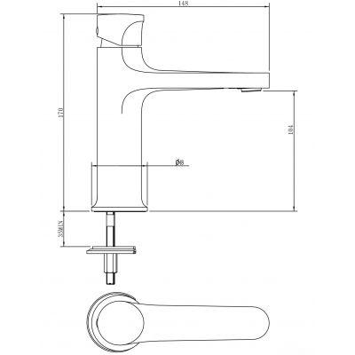 Bateria umywalkowa S951300 Cersanit Inverto