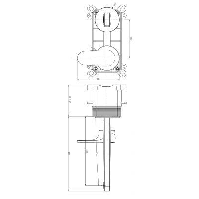 Bateria umywalkowa S951302 Cersanit Inverto