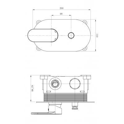 Bateria wannowo-prysznicowa podtynkowa S951305 Cersanit Crea