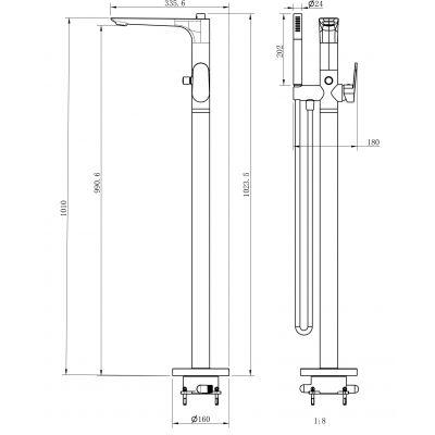 Bateria wannowo-prysznicowa S951306 Cersanit Crea