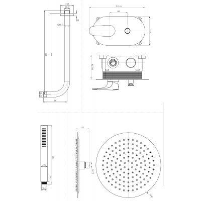 Bateria wannowo-prysznicowa podtynkowa S951313 Cersanit Inverto