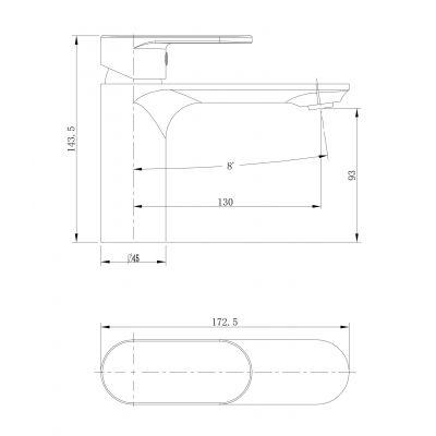 Bateria umywalkowa S951331 Cersanit Crea