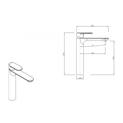 Bateria umywalkowa S951332 Cersanit Crea