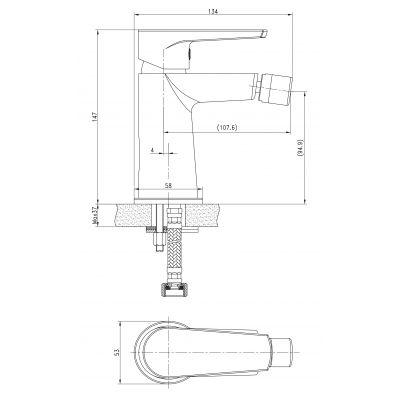 Bateria bidetowa S951351 Cersanit Moduo