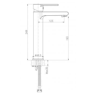 Bateria umywalkowa S951405 Cersanit Verso