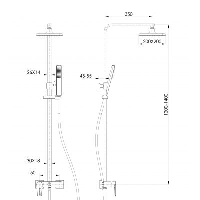 Zestaw prysznicowy S951339 Cersanit Mille