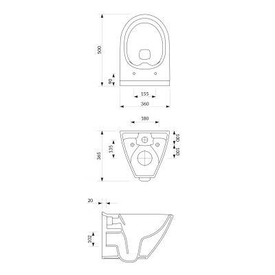 Zestaw miska + deska wolnoopadająca wisząca S701454 Cersanit Mille Plus