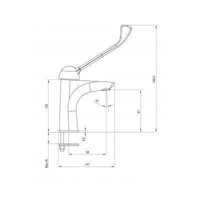 Bateria umywalkowa BCY021C Deante Cynia