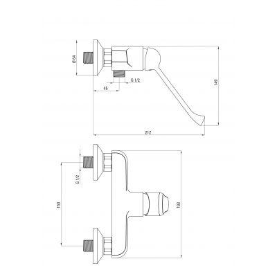Bateria prysznicowa BGV040C Deante Avis