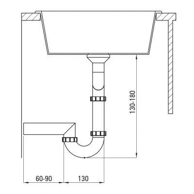 Syfon zlewozmywakowy ZXY9921 Deante